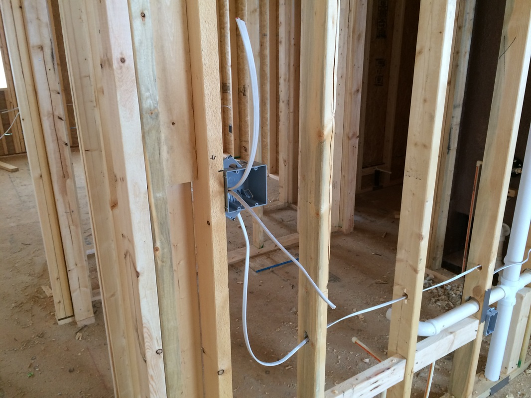 Blog Archives Our New House Rough Electrical Wiring Picture